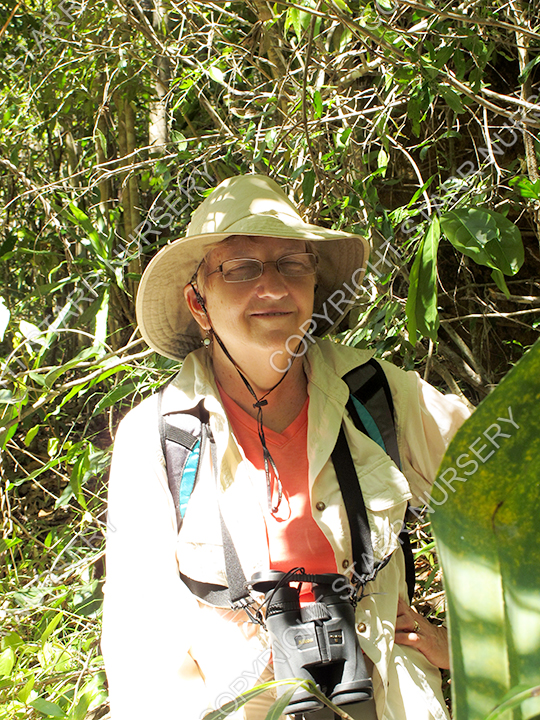 Carol enjoying the hike in Isalo N.P.